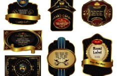 Set Of Vector Retro Royal Labels