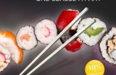 Beautiful Sushi Flyer Design PSD