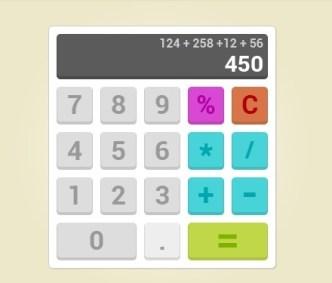 Flat Calculator PSD