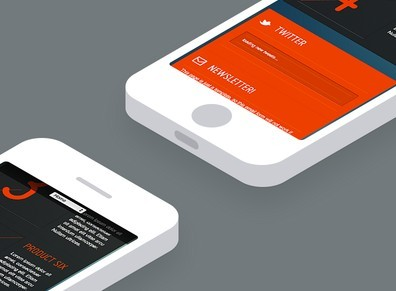 Isometric White iPhone 5 PSD Template
