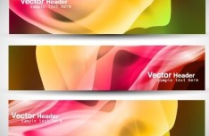 Set Of Vector Fashion Banners with Silk Backgrounds 02