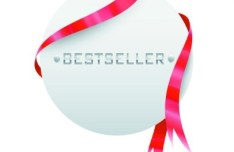 Clean Price Tag with Red Ribbon Vector 01