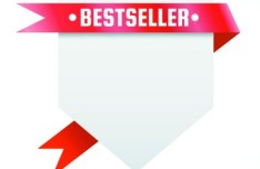 Clean Price Tag with Red Ribbon Vector 04