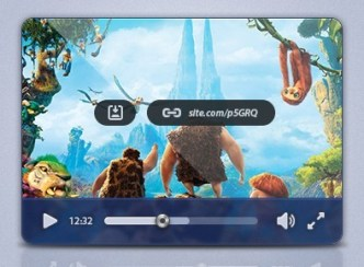 Rounded Media Player UI PSD