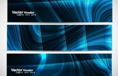 Set Of Vector Abstract Science Banners 02