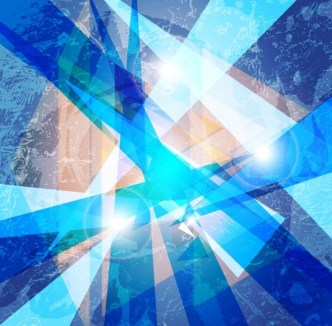 Blue Abstract Shapes Background Vector 01