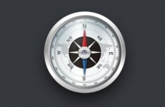 Detailed Compass Icon PSD