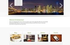 Simple Business Website Template PSD