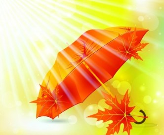 Warm Autumn Leaf Background Vector 01