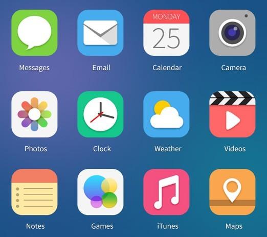 12 Flat iOS 7 Style App Icons