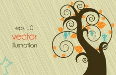Clean Abstract Tree Vector Illustration 03