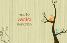 Clean Abstract Tree Vector Illustration 04