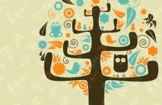 Clean Abstract Tree Vector Illustration 05
