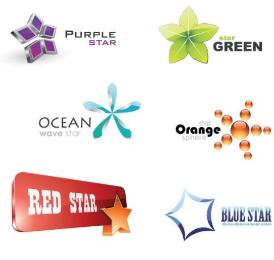 free creative abstract star logos vector titanui