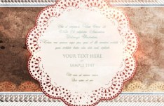 Vintage Old Floral Card Cover Template Vector 03