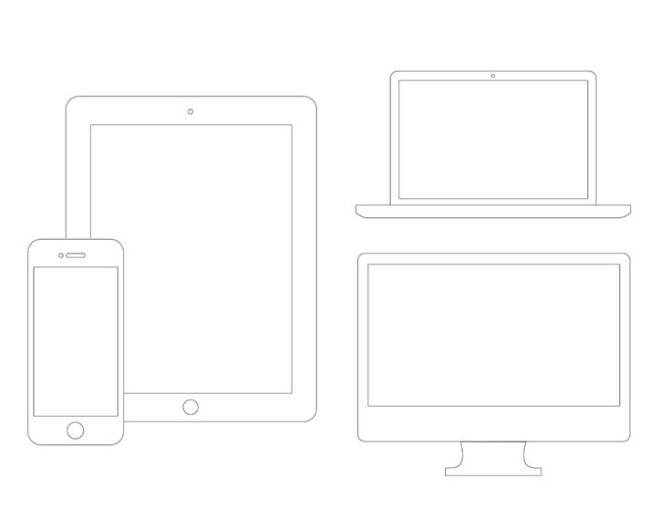 Apple Device Wireframes PSD