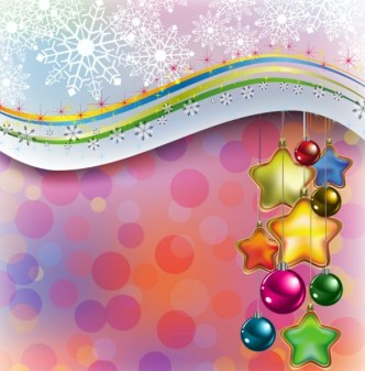 Beautiful Christmas Card with Snowflake Background Vector 01