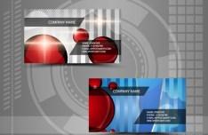 Bright HI-Tech Business Card Templates Vector 02