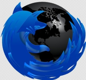 Blue and Dark Firefox Browser Icon PSD