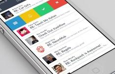 Flat MVP Mail App Interface PSD
