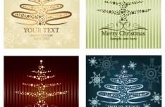 Set Of Beautiful Merry Christmas Card Design Templates Vector 01