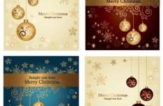 Set Of Beautiful Merry Christmas Card Design Templates Vector 02
