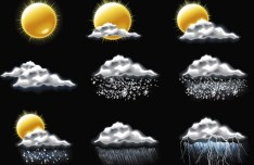 Set Of Vector Weather Icons 05