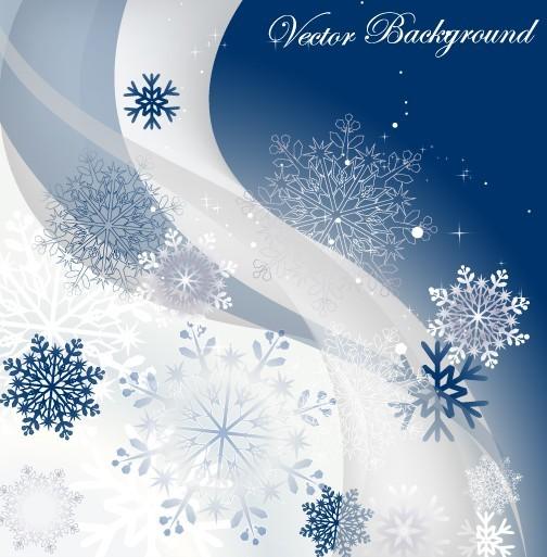 Winter Snowflake Background Vector 01