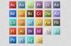 Adobe CC Application Icons Pack PSD