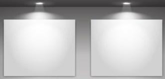 Blank Showcase with Spotlight Vector Mockup 02