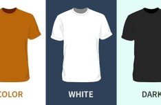 Blank Short-sleeved T-shirt PSD Mockup
