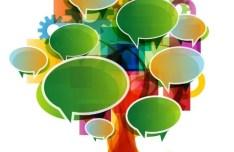 Creative Abstract Tree Speech Bubbles Vector 01