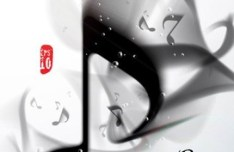 Creative Ink Musical Note Vector 01