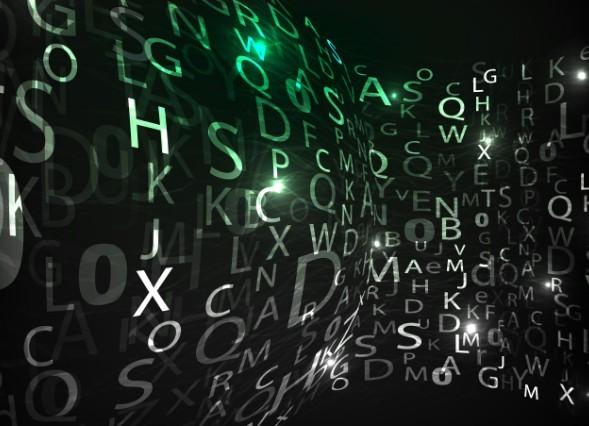 HI-Tech Digital Letters Background Vector 02