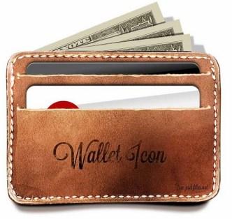 Vintage Wallet and Credit Cards PSD Mockup