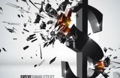 Creative 3D Crushed Dollar Symbol Design Vector