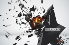 Creative 3D Crushed Star Design Vector