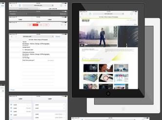 iPad With iOS 7 GUI Vector