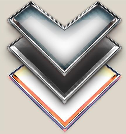 3D Metal Arrows PSD