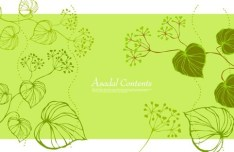 Fresh Green Spring Bird and Floral Vector 02