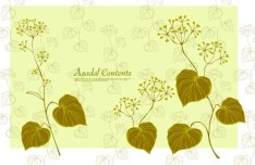 Fresh Green Spring Bird and Floral Vector 03