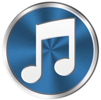 Metal iTunes Icon PSD