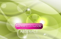Vector Gentle Waves and Bubbles Illustration 03