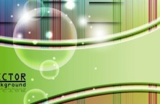 Vector Gentle Waves and Bubbles Illustration 04