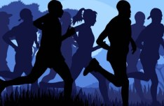 Vector Running People Silhouette 01