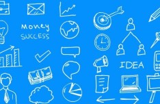 Business Doodle Icons Pack PSD