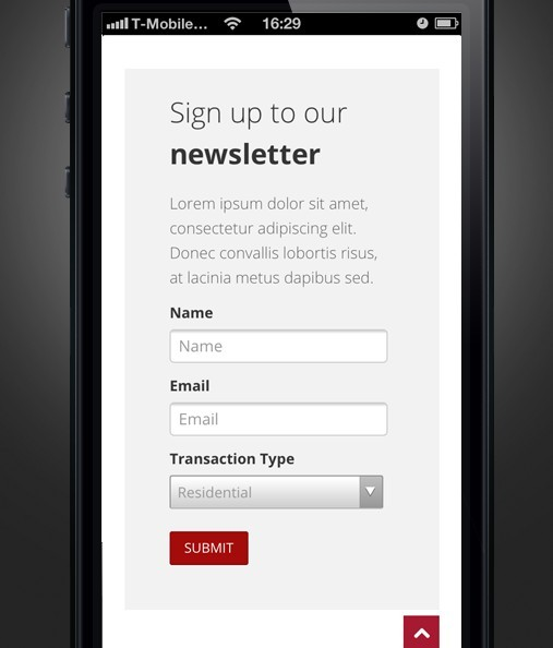 Clean iPhone 5 Sign Up GUI PSD