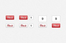 Pinterest Pin It Buttons With Counters PSD