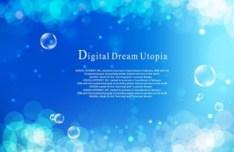 Set Of Vector Romantic Love Bubbles Backgrounds 01