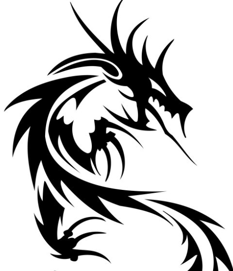Free black china dragon paper cut pattern vector 02 titanui for Chinese paper cutting templates dragon